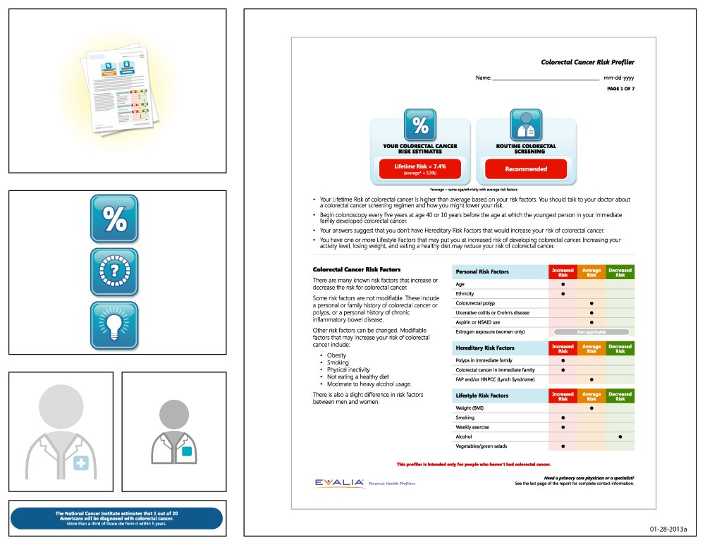 Preview of artwork for EVALIA® Colorectal Cancer Risk Profiler
