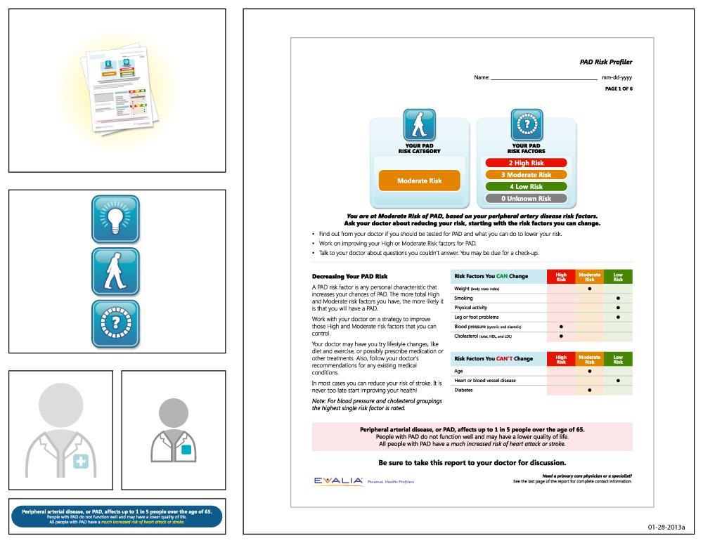 Preview of artwork for EVALIA® PAD Risk Profiler