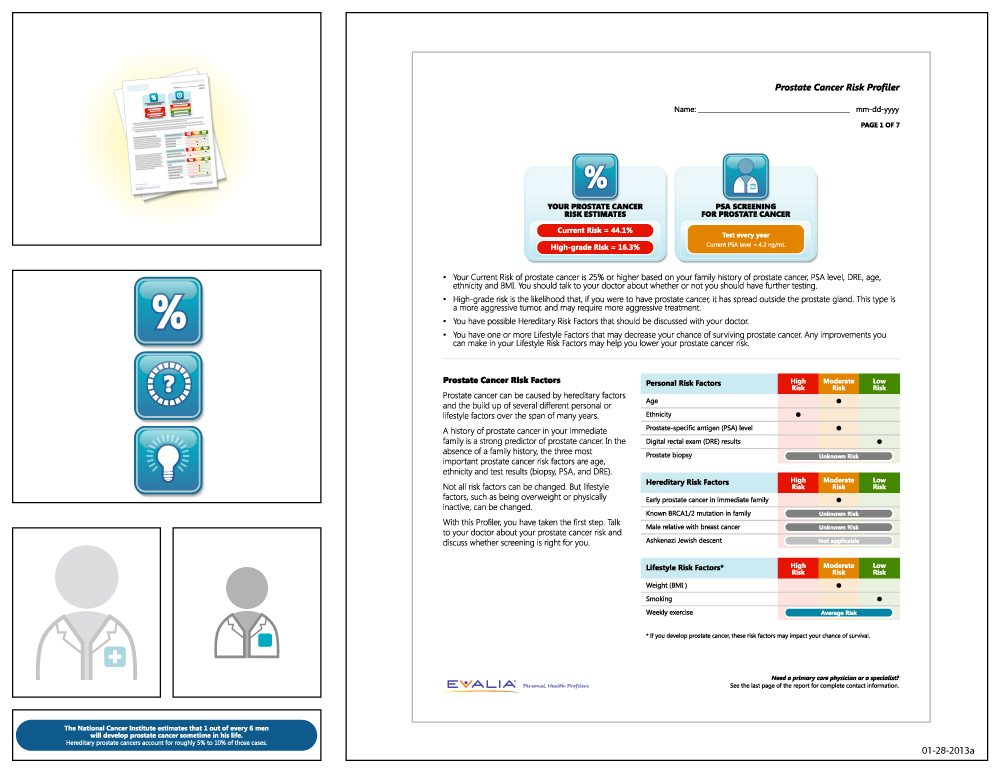 Preview of artwork for EVALIA® Prostate Cancer Risk Profiler