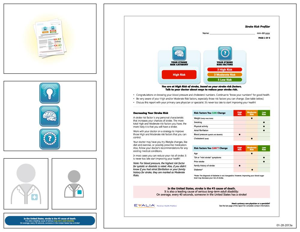 Preview of artwork for EVALIA® Stroke Risk Profiler